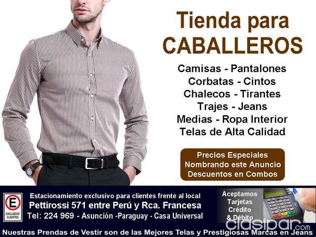 Prendas De Vestir Para Caballeros 97990 Clasipar Com En Paraguay